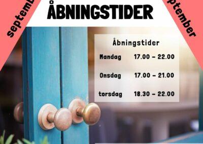 Cafeteria Åbningstider